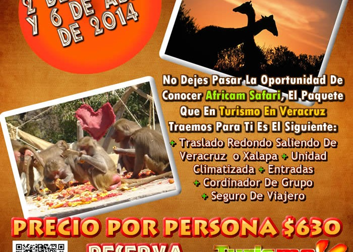 Vamos a Africam Safari Este 2 De Marzo y 6 De Abril Saliendo De Veracruz, Cardel y Xalapa