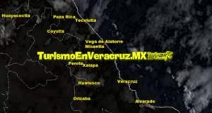 Ambiente cálido en el transcurso del día; lluvias por la tarde-noche en el Estado de Veracruz