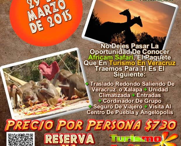 Vamos a Africam Safari Este 29 De Marzo Saliendo De Veracruz, Cardel y Xalapa
