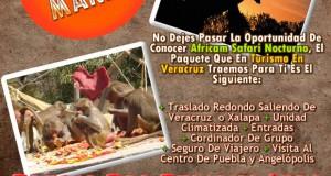 Vamos a Africam Safari Este 15 De Marzo Saliendo De Veracruz, Cardel y Xalapa