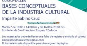 Ofrecerá IVEC taller sobre bases conceptuales de la industria cultural, en Córdoba