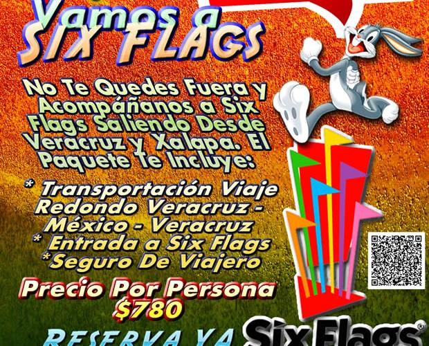 Excursión a Six Flags Este 19 De Abril Saliendo De Veracruz, Cardel y Xalapa