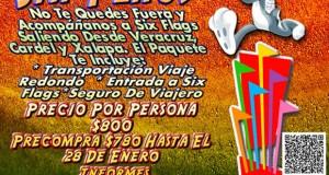 #Excursión a #SixFlags Este 14 De Febrero Saliendo De #Veracruz y #Xalapa