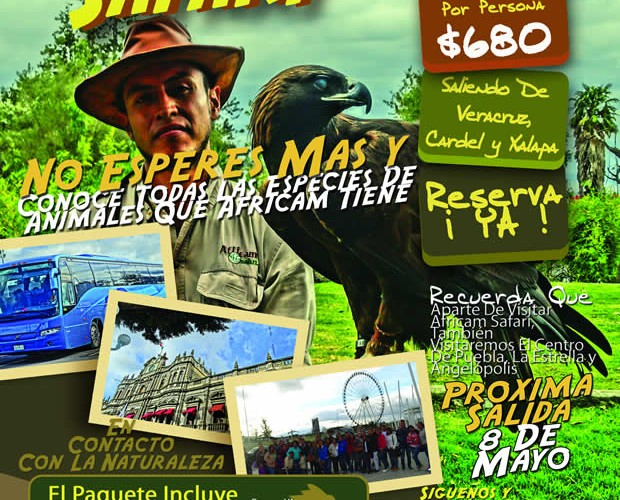 #Excursión a #AfricamSafari Este 8 De Mayo Saliendo De #Veracruz y #Xalapa