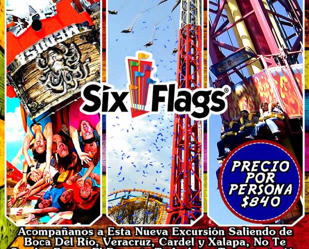 #Excursión a #SixFlags Este 19 De Marzo De 2017 Saliendo De #Veracruz y #Xalapa